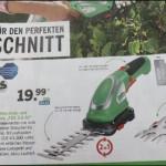 Akku- Gras- und Strauchschere bei Lidl 14.04.2016